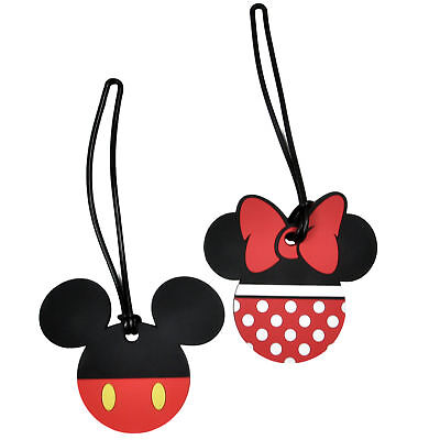 Disney Mickey & Minnie Mouse Luggage Suitcase Tags 2PACK