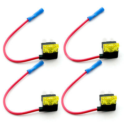 4 X Add A Circuit Piggy Back Fuse Tap Standard Blade Fuse Holder ATO 12V 24V