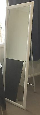 Large Mirror White Frame Approx 159cm High X 49cm Wide