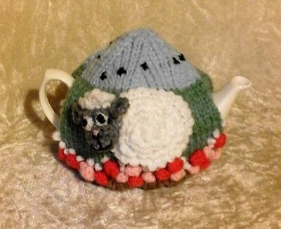 Hand Knit Sheep Tea Cosy Small 2 Cup