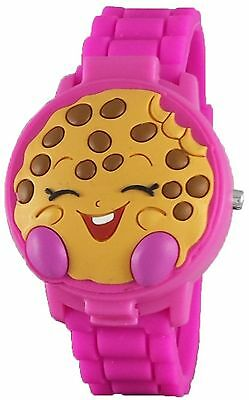 """Shopkins Girl's """"Kooky Cookie"""" 3D Pink Digital Watch with Pop-Up Feature ~ NEW"""