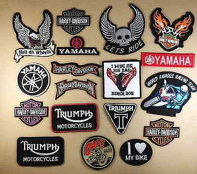 Embroidered Bikers Motorcycle Iron/Sew on badges,patches