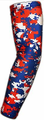Digital camo arm sleeve Baseball Basketball Sports Compression Youth Medium