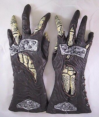 Vinyl Hell Rider Zombie Vampire Hands Gloves Halloween Costume Accessory Prop
