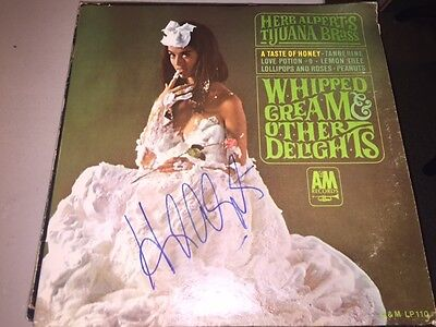 HERB ALPERT Signed Autographed WHIPPED CREAM & OTHER DELIGHTS Album LP