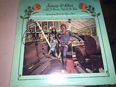 RARE Cher Signed Autographed SONNY & CHER ALL I EVER NEED IS YOU Album LP