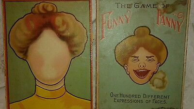 "Antique Victorian Boards from ""Game of Funny Fanny"" Zillograoh Ad. J.W. S & S"