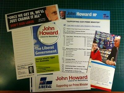 Prime Minister John Howard 2007 Liberal Party Bennelong Campaign Material