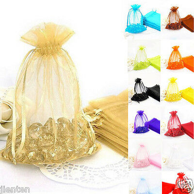 Beauty Organza Gift Bag Jewellery Pouches Wedding Party Candy Bags Decor 18x13cm