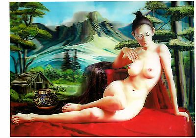 nude woman body art 3D Lenticular  Holographic Stereoscopic Picture Wall Art