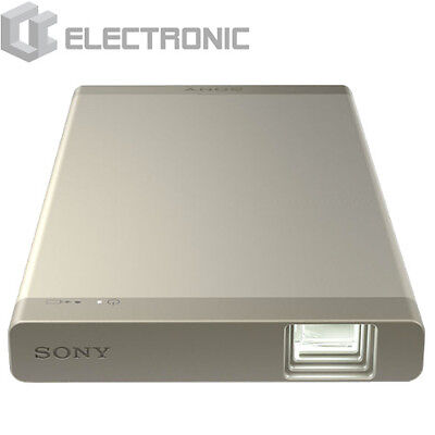 New Sony MP-CL1A Portable Mobile Projector Mini Home Theater HD Wi-Fi - Gold