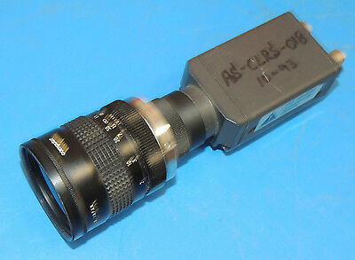 Hitachi KP-M1U CCD Camera with Computar 50mm TV Lens/ for Microscope & Security