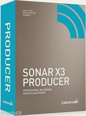 Cakewalk Sonar X3  Producer -Music Production Software on  for Win 10,8,7
