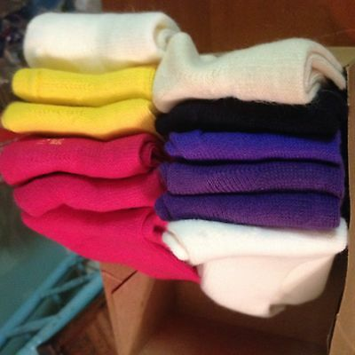 1960's. Box of Assorted Women's SOX, Nice colors, 12 pairs, Old Stock sz. 8-11