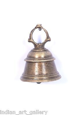 Antique Authentic Indian Handcrafted High Aged Bronze Temple Bell. i9-19