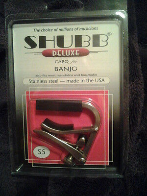 New Shubb S5 Deluxe Stainless Steel Banjo Capo Free Shipping