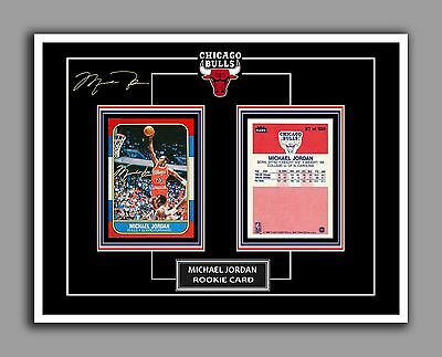 MICHAEL JORDAN ROOKIE #57, Glossy Autograph Photo, Front and Back, 8.5 by 11 in
