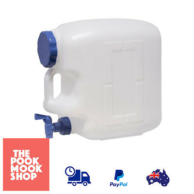 Water Container 23 Litre Carrier, Camping Storage Hiking Jug w/ Tap Easy Access