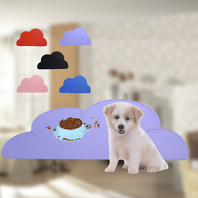 Silicone Pad Cute Dish Bowl Mat Food Feed Placemat Pet Dog Puppy Cat Feeding Mat