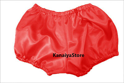 Red Satin Pants Pantaloons India Maid Sissy Adult Baby Fits With Underwear NEW