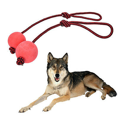 KONG Ball With Rope Interactive Pet Dog Tugg Toss Fun Play Toy Easy to Use