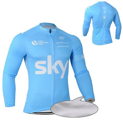 New Mens Winter Fleece Thermal Cycling Jersey Bike Clothing Long Sleeve Shirts