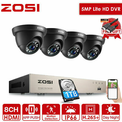 ZOSI 8CH 1TB HD 1080N TVI 1500TVL Outdoor Home CCTV Security Camera System +Gift