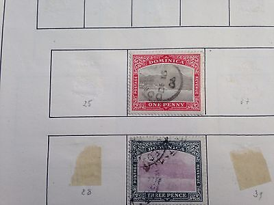 Dominica mint and used stamps incl many shilling values, worthwile stamp lot