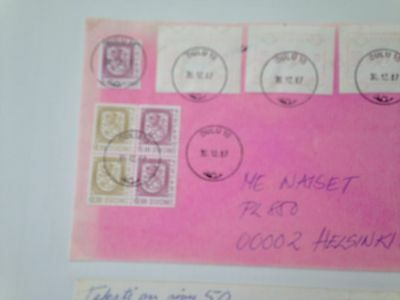Finland extensive lot of  meter mark covers with stamps