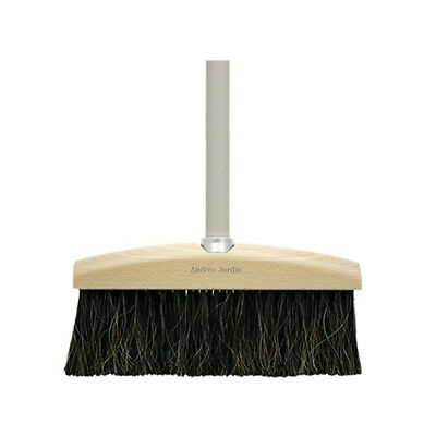 Long Handled Wooden Traditional Soft Broom - Grey by Mr & Mrs Clynk