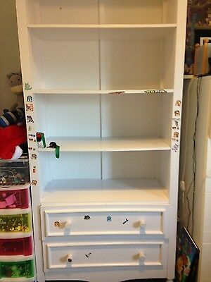 Kids Bookcase/storage with drawers (white)