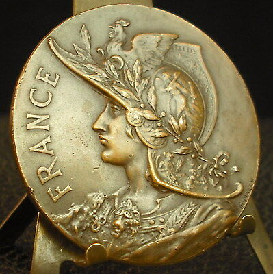 Superbe médaille Marianne Cavalier Cheval Equitation par Ch Marcy 1927 Medal 铜牌