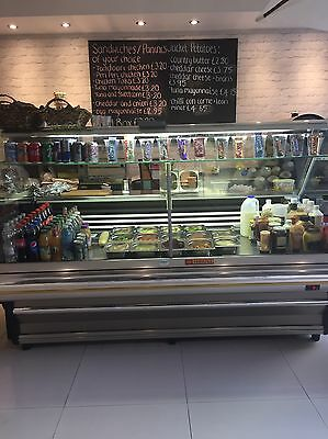 2 Meters Comersa Refrigerated Display Counter