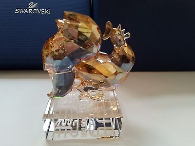 Swarovski Chinese Zodiac Limited Edition 2017 Gold Rooster  BNIB
