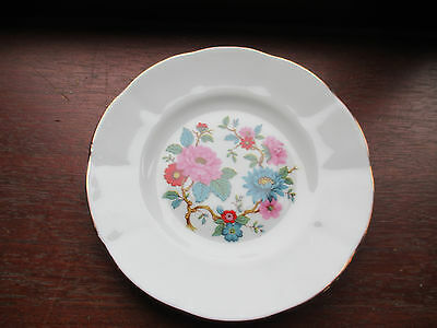 vintage bone china springfield floral plate 6 inches