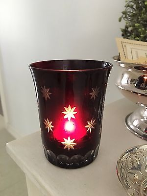 Vintage Crabtree & Evelyn Ruby Glass