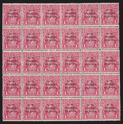 NWPI New Guinea : 1918 KGV 1d complete forme of 30 with 10 Die II MNH ** RARITY
