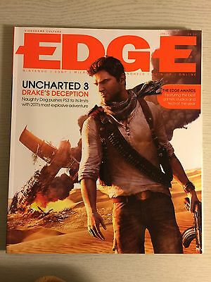 Edge Games Magazine No 223 Jan 2011 Uncharted 3 Golden Sun LA Noire PS3 360 DS