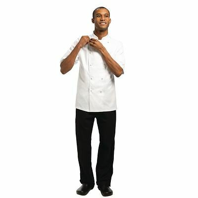 Chef Works Mens Capri Executive Chefs Jacket Short Sleeved Coat Cotton Top