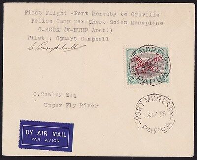 Papua 1935 First Flight Cover Port Moresby Oroville  Lakatoi signed ONLY 89 FLEW