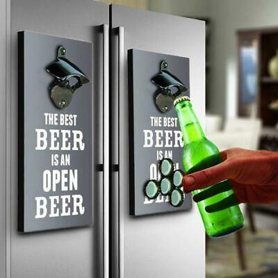 Bottle Opener & Magnetic Top Catcher – Beer, Drink, Open,