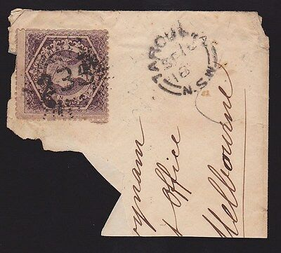 New South Wales : Postmark Numeral 235 of Adelong type 5R26 (RRRR) part cover