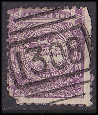 New South Wales :  Postmark Numeral 1308 of St Ives (RRR).