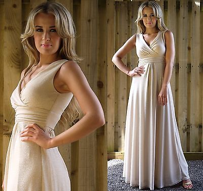 Long Evening Party Dress Spring Summer Wedding Bridesmaid Prom Champagne MontyQ