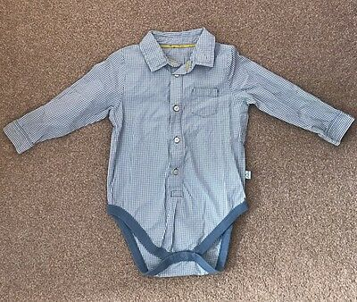 M&S Autograph Baby Boy Shirt With poppers 18-24 Mths