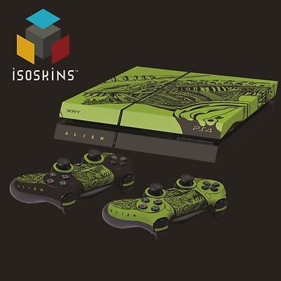 Isoskin® Alien Acid Green & Black Laid Playstation 4 (PS4) Skin Decal