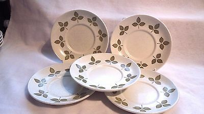 Vintage J & G Meakin Maidstone Set Of 5 Tulip Time Saucers(Good Used Condition)
