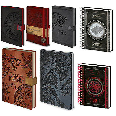 Game Of Thrones Houses Premium A5 Notebook Official Licensed Leather Pyramid UK