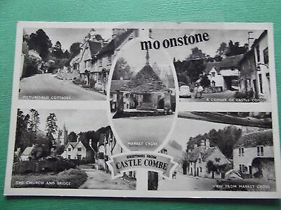 Old Postcard Of Castle Combe, Wiltshire