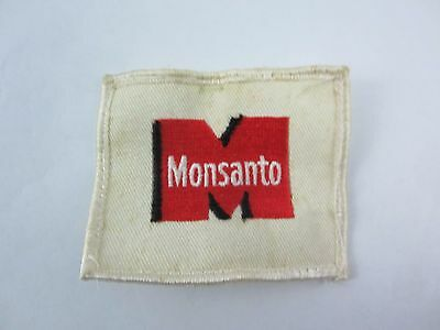 Monsanto Embroidered Employee Patch Red Advertising Farming Farm AG